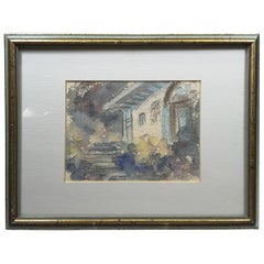 Francis Carr Watercolor Titled Doorway Portmeirion Wales