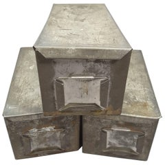 Industrial Vintage Handmade Tin Storage Boxes