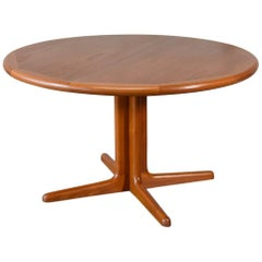 Round Danish Teak Dining Table