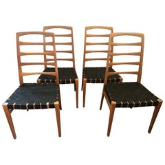 1962 Swedish Bodafors Reno Oak Chairs Designer Bertil Fridhagen Eight Chairs