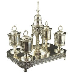 Silver Writing Set, Madrid, Juan Sellán, Spain, 1845
