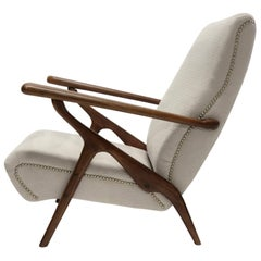 Adjustable Lounge Chair Attributed to Carlo Mollino for Antonino Gorgone