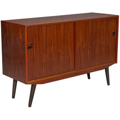 Small Two-Door Danish Modern Rosewood Sideboard