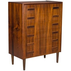 Danish Modern Rosewood Chest of Six Drawers