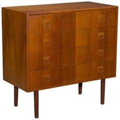 Petite Danish Modern Hjornebo System Teak Four-Drawer Dresser