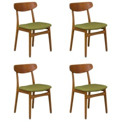 Set of Four Danish Modern Teak Dining Chairs