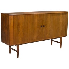 Danish Modern High Rosewood Sideboard with Tambour Doors