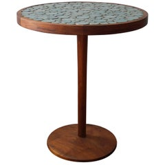 Jane and Gordon Martz Ceramic and Walnut Occasional Table