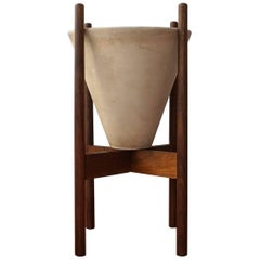 La Gardo Tackett for Architectural Pottery Cone Planter with Wood Stand
