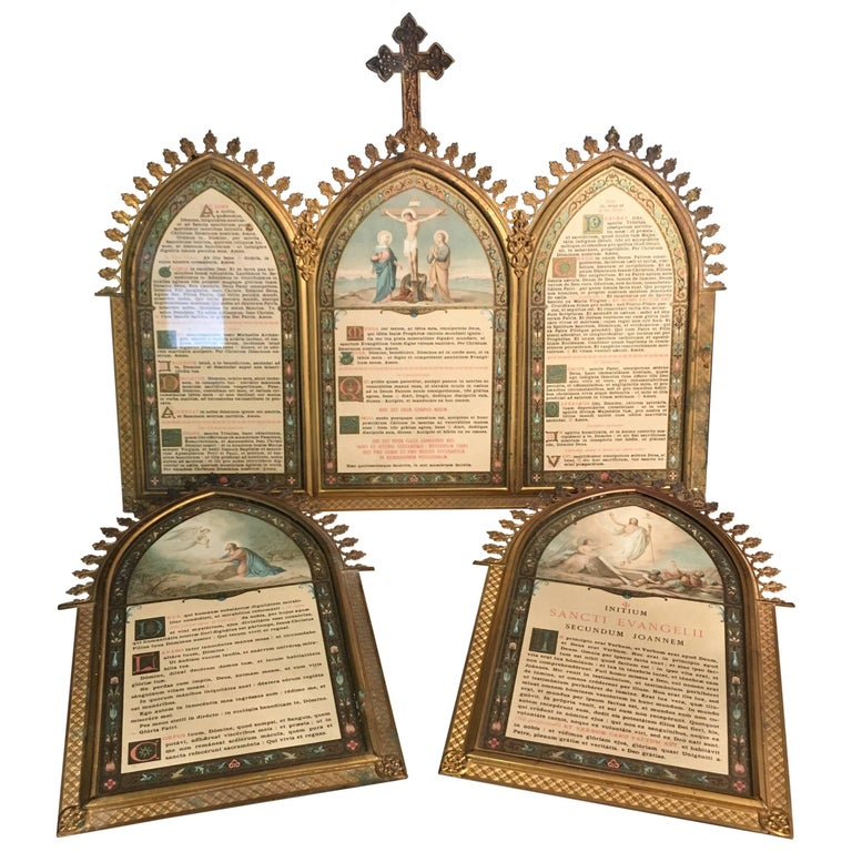 Latin Mass Altar Cards Mid-Late 19th Century