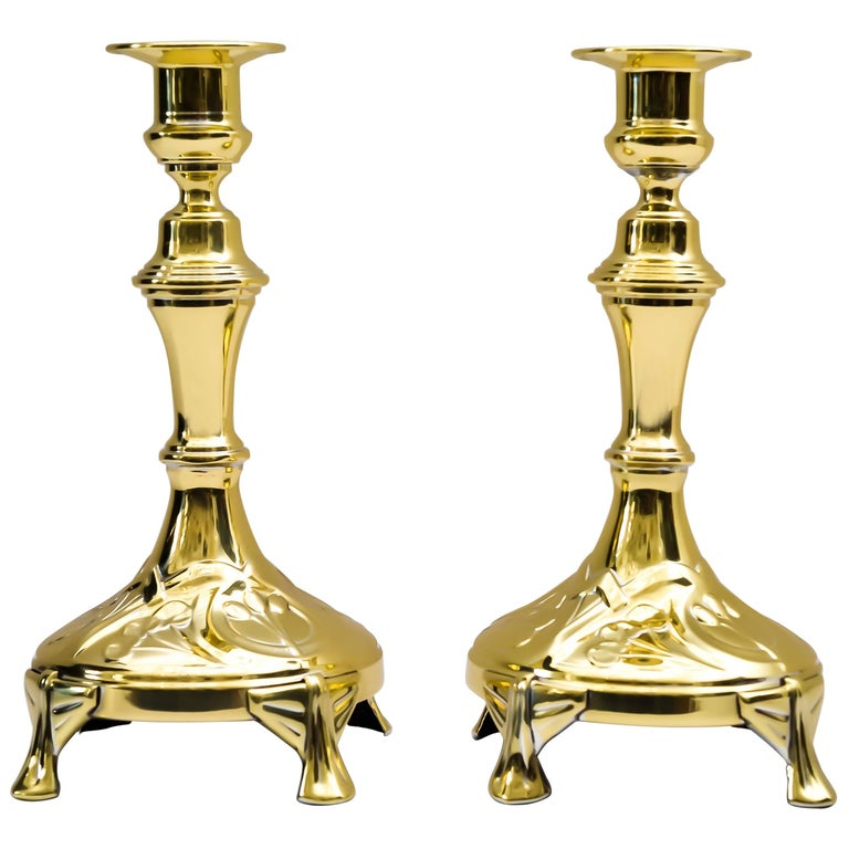 Two Candleholders, around 1907 For Sale