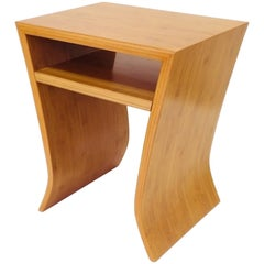 David Ebner Bamboo End Table with Shelf, 2005