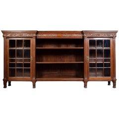 Large Maple & Co Mahogany Bookcase