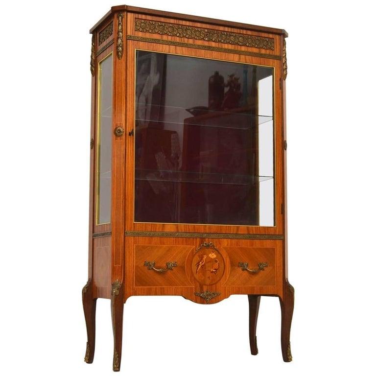 Antique Swedish Kingwood Display Cabinet For Sale - Antique Swedish Kingwood Display Cabinet For Sale At 1stdibs