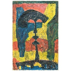 Jacob Semiatin 1950s Abstract Painting