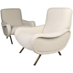 Marco Zanuso 'Lady' Chairs, Early Arflex Edition, circa 1951