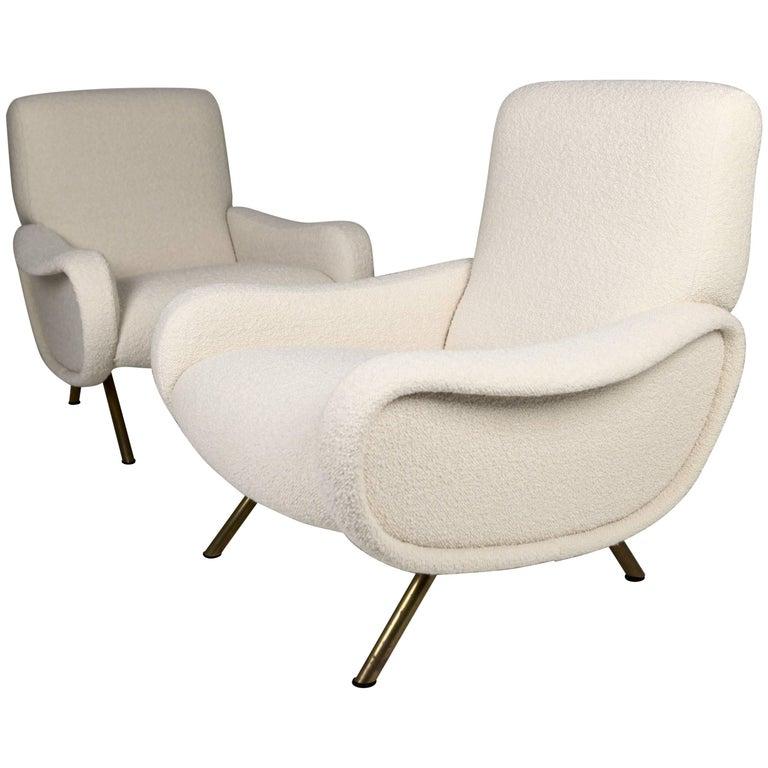 Marco Zanuso 'Lady' Chairs, Early Arflex Edition, circa 1951 For Sale