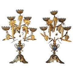 Late 19th Century Pair of French Church Candelabra