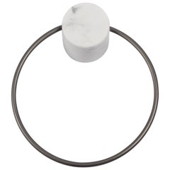 Salvatori Fontane Bianche Towel Ring in Bianco Carrara Marble by Elisa Ossino