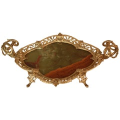 French Bronze and Onyx Tray Centerpiece