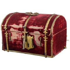 Velvet Covered Chest, Spain, 16th Century