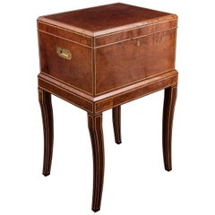 Very Rare 20th Century Figured Red Walnut Cigar Humidor by Dunhill