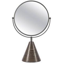 Salvatori Fontane Bianche Table Mirror in Pietra d'Avola Stone by Elisa Ossino