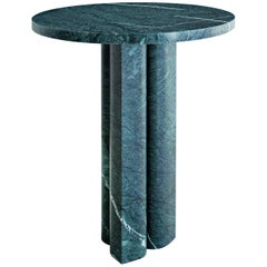 Salvatori 'Love Me, Love Me Not' Round Side Table in Verde Alpi Marble