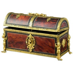 Late 18th Century Chest Wood, Gold Bronze and Hawksbill