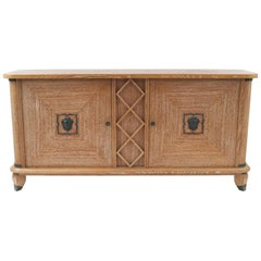 French 1940s Cerused Oak Buffet, Attrib. to Andre Arbus