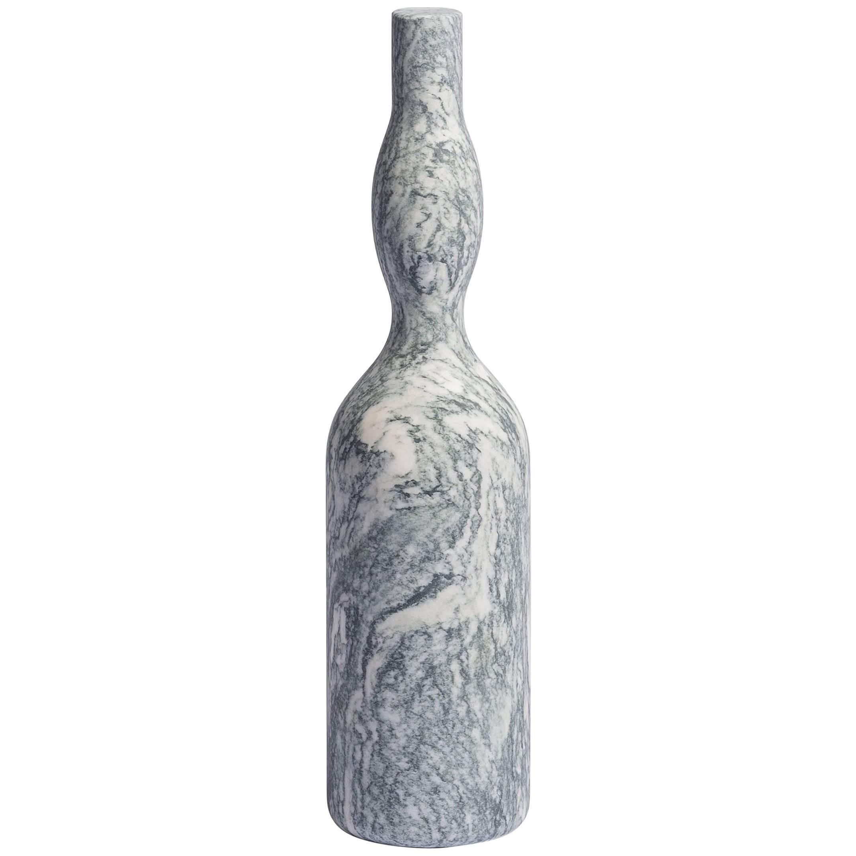 Salvatori Omaggio a Morandi Bottle Sculpture in Cipollino Stone by Elisa Ossino