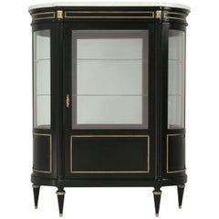 French Louis XVI Style Curio or China Cabinet