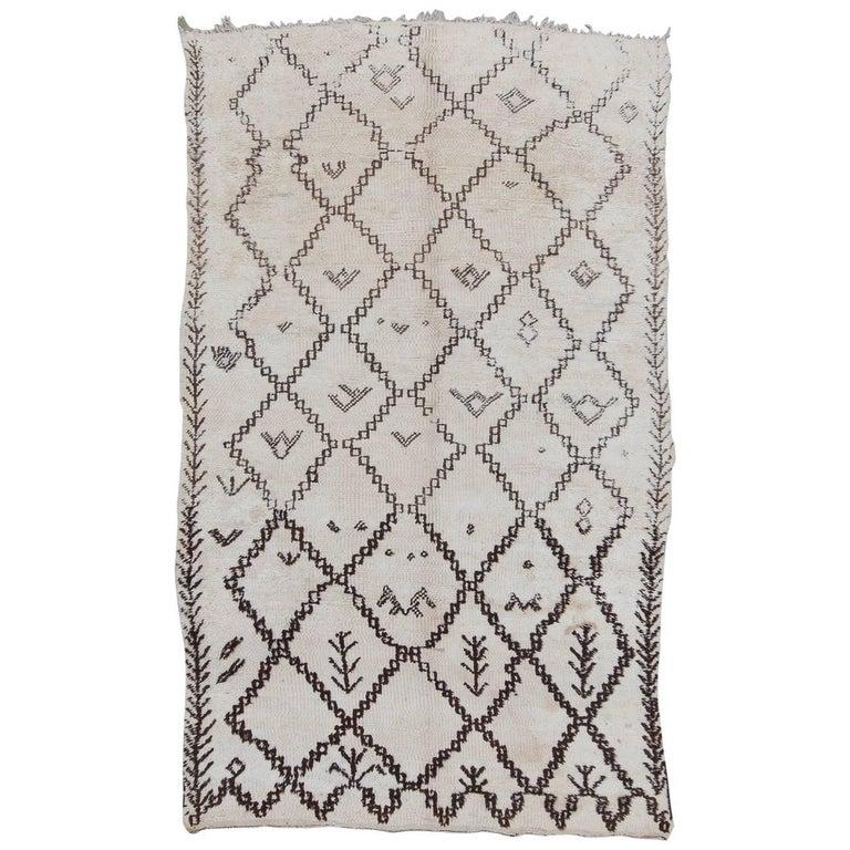 Vintage Beni Ourain Marmoucha Moroccan Rug