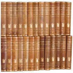 26 Swedish Large Leather Bound Books