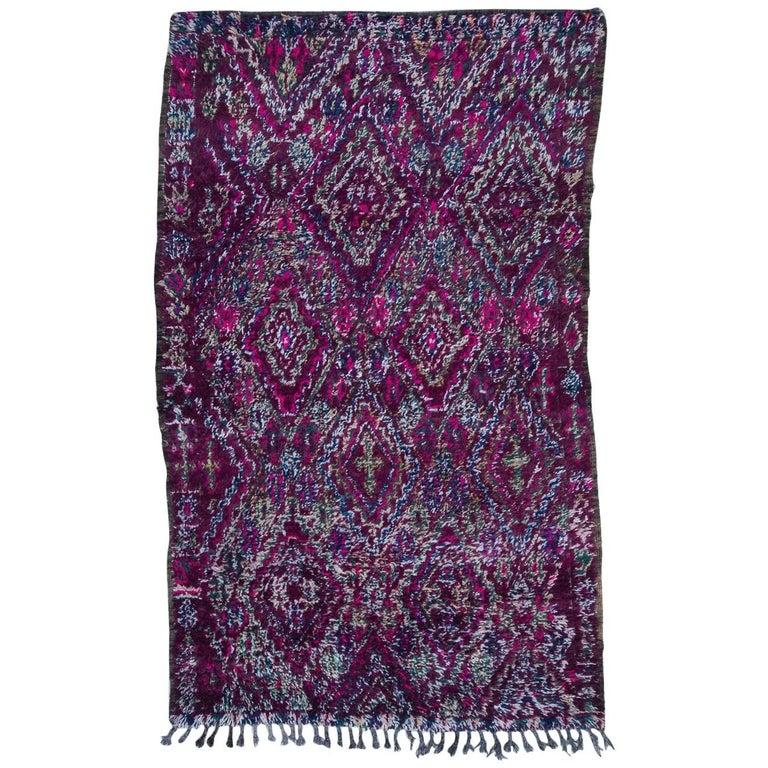 Vintage Moroccan Beni M'Guild Rug, Purple