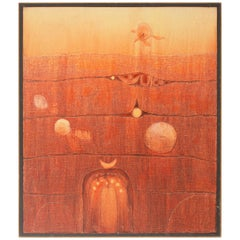 Fountain of Dreams, Abstract Mixed-Media by Terry Durham, circa 1965