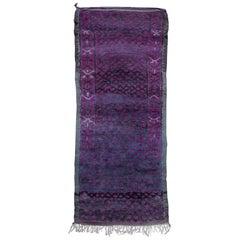 Vintage Moroccan Talsint Rug, Black and Purple