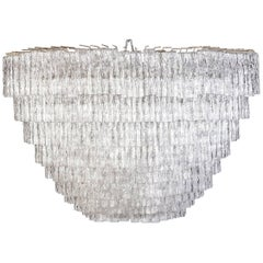 Monumental Tiered Camer Glass Chandelier