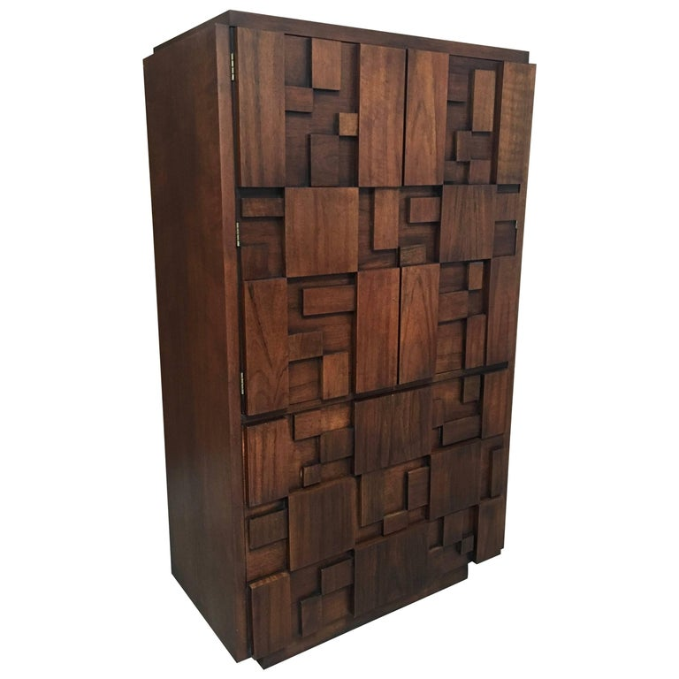 Brutalist Patchwork Tall Chest by Lane