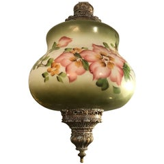 Lovely Hand-Painted Vintage Pendant Light Fixture