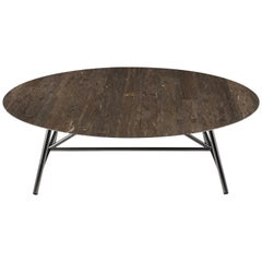 Salvatori Large W Round Coffee Table in Lithoverde® Pietra d'Avola Stone