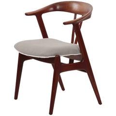 Scandinavian Mid-Century Modern Sculpted Teak Roundback Armchair, circa 1960s