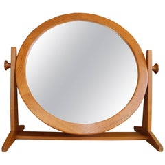Danish Modern Tilting Teak Table Mirror by Pedersen & Hansen, 1960s