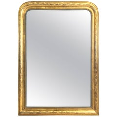 Large Louis Philippe Arch Top Gilt Mirror (H 55 1/4 x W 39 3/4)