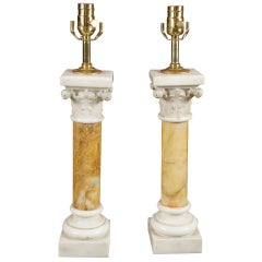 Pair of Marble Lamps