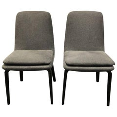 Rodolfo Dordoni for Minotti Pair of York Side/Dining Chairs
