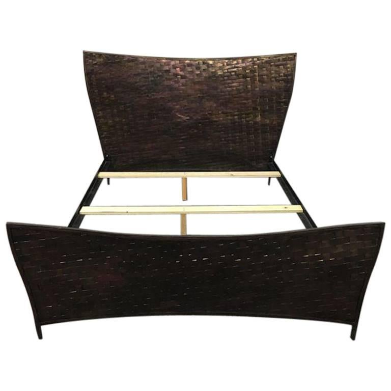 Dakota Jackson Queen Woven Metal Bed Frame At 1stdibs