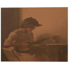 "Peter Ilsted ""Mandolin Player"" 1911, Opus 8, Mezzotine"