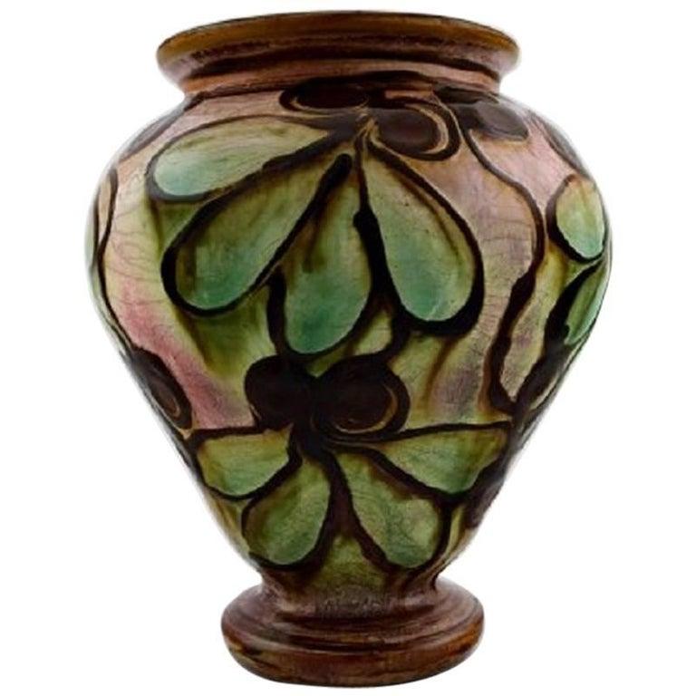 k hler denmark glazed stoneware vase in modern design 1930 1940s for sale at 1stdibs. Black Bedroom Furniture Sets. Home Design Ideas