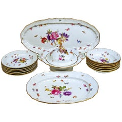 Meissen Dinner Set Neubrandenstein Six Persons Kaendler Eberlein Made circa 1850
